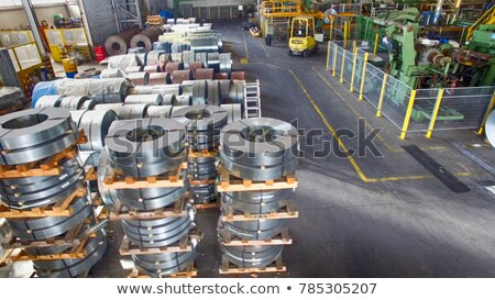 rolls of steel sheet inside of plant, Cold rolled steel coils Stock photo © razvanphotos