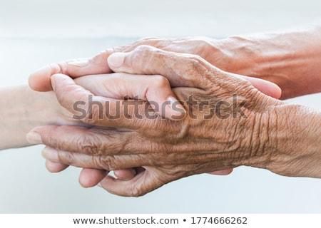 Handshake Mutter jungen Kind Stock foto © leowolfert
