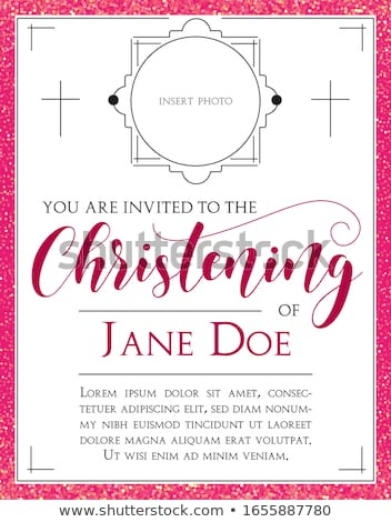 Stock photo: Baby Christening invitation background