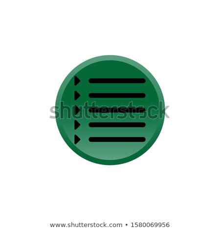 Idő zöld vektor gomb ikon terv Stock fotó © rizwanali3d