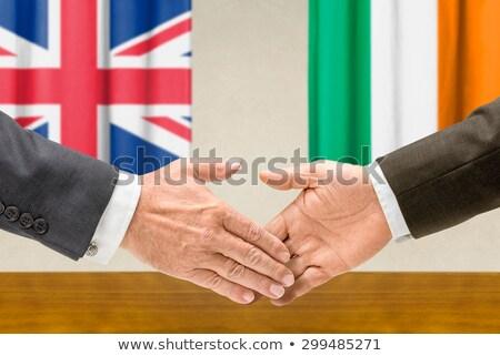 Representatives of the UK and Ireland shake hands Stock photo © Zerbor