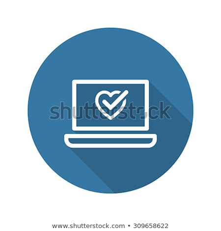 Online Health Tests and Medical Services Icon. Flat Design. Long Stock photo © WaD