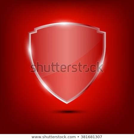 glossy shield emblems stock photo © almagami