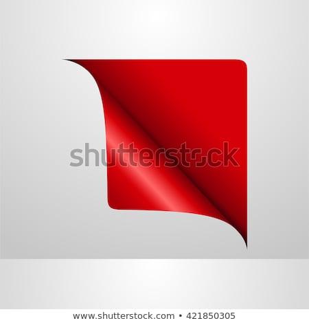 nowego · czerwony · rogu · działalności · wstążka · biały - zdjęcia stock © designer_things