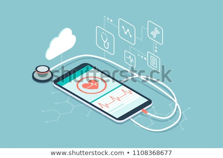 Medical mobile app and technology Stock photo © stokkete