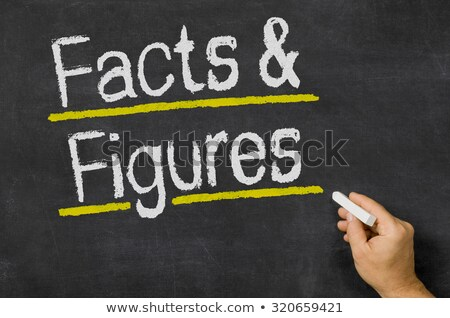 Facts and Figures written on a blackboard Stock photo © Zerbor