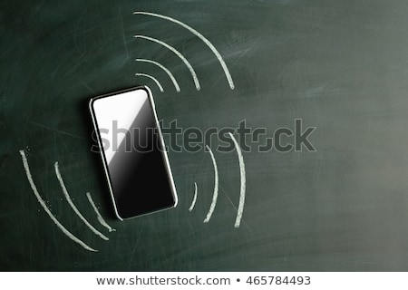 Vibrating phone icon drawn in chalk. Stock photo © RAStudio