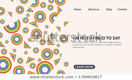 Huwelijk knop veelkleurig woord trots gekleurd Stockfoto © karenr