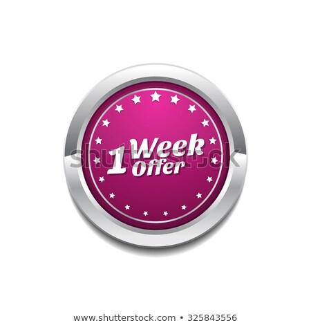 неделя дело розовый вектора кнопки икона Сток-фото © rizwanali3d