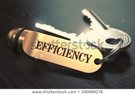 ключами · слово · эффективность · Label · черный - Сток-фото © tashatuvango