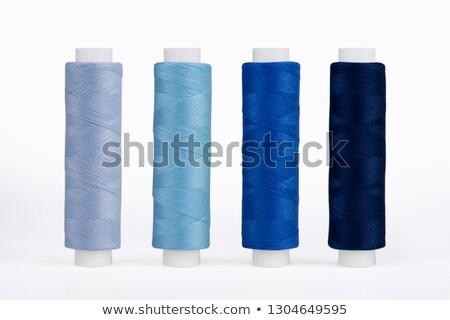 Cséve kék fonál izolált csoport ipar Stock fotó © tetkoren