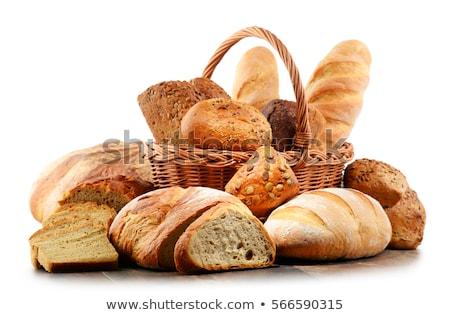 Választék friss kenyér tekercsek darab fa Stock fotó © Digifoodstock