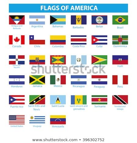 Brazilië Dominica vlaggen puzzel geïsoleerd witte Stockfoto © Istanbul2009