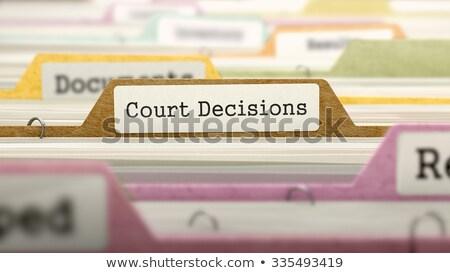 court decisions   folder name in directory stock photo © tashatuvango