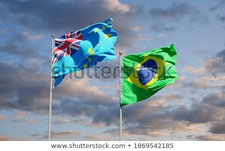 Brasil Tuvalu bandeiras quebra-cabeça isolado branco Foto stock © Istanbul2009