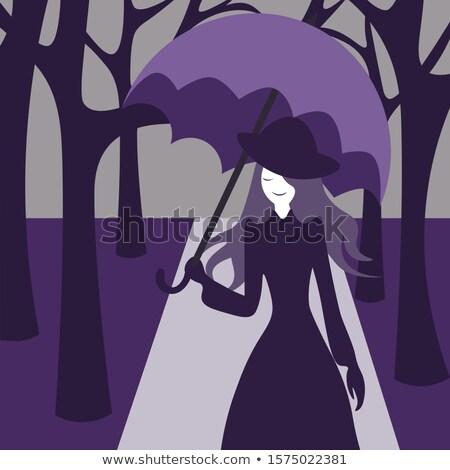 Cartoon · довольно · женщину · стороны · Crazy · женщины - Сток-фото © clipartmascots