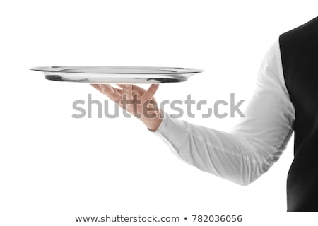Stock photo: Hand Waiter Tray