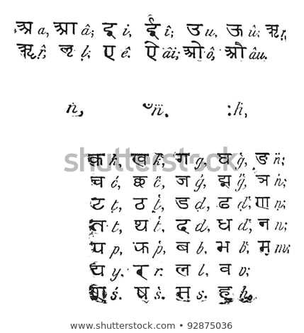 Sanskrit alphabet, vintage engraving. Stock photo © Morphart