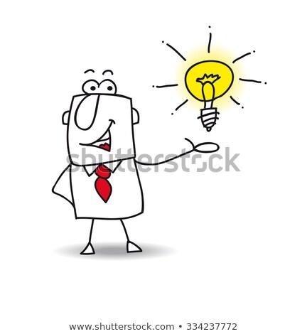 Joe presents an idea Stock photo © tintin75