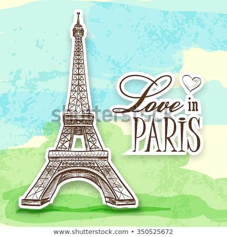 love in Paris Efel Stock photo © netkov1