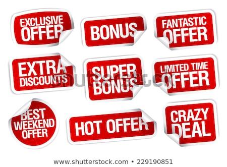 Bonus satış ikon web kart düğme Stok fotoğraf © kiddaikiddee