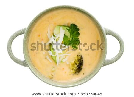 мнение суп кегли Focus Кубок куриные Сток-фото © ozgur