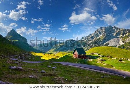 The road in the national park Durmitor in Montenegro, Balkans. Stock photo © vlad_star