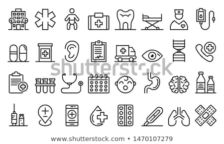 woman nursing baby line icon stock photo © rastudio