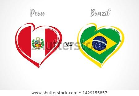 Perú corazón bandera icono amor símbolo Foto stock © netkov1