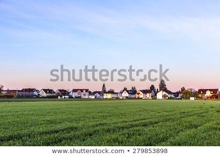 nascer · do · sol · subúrbio · Munique · casas · horizonte · céu - foto stock © meinzahn
