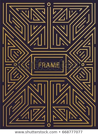 vector · geométrico · lineal · estilo · marco · art · deco - foto stock © fractal86