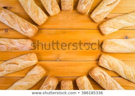 Circular frame of freshly baked French bread Stock photo © ozgur