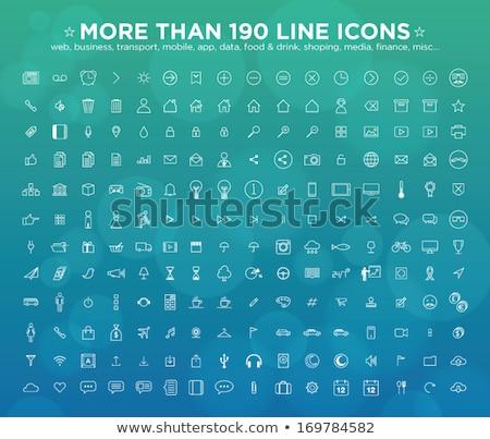 çevre · koruma · hat · ikon · vektör · yalıtılmış - stok fotoğraf © rastudio