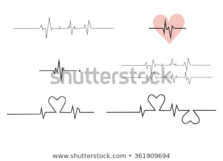 heart beat monitor line icon stock photo © rastudio