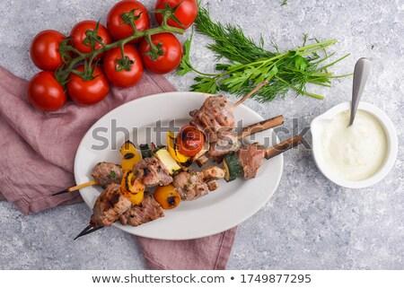 Meat and vegetable skewer Stock photo © Digifoodstock
