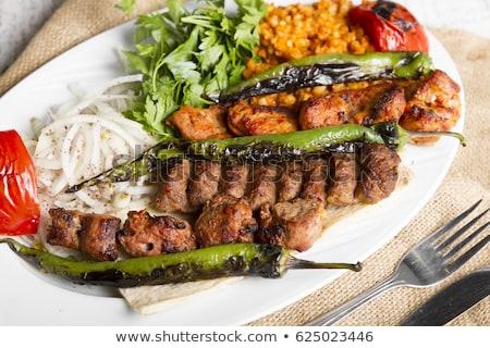 Frango fígado quibe legumes pimenta Foto stock © Digifoodstock