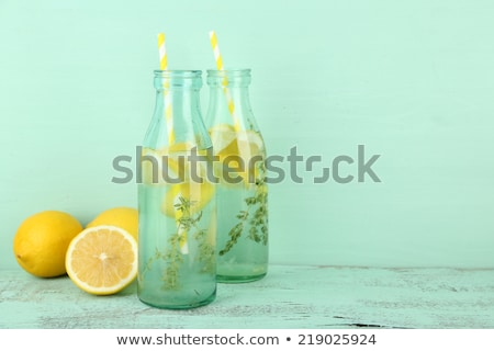 Water with lemon and thyme Stock photo © Lana_M