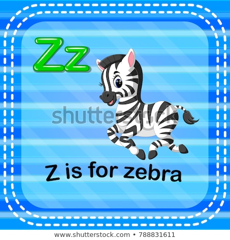 Flashcard letter Z is for zebra Stock photo © bluering
