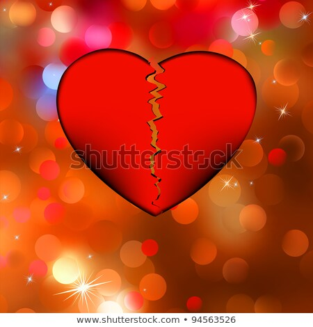Nice Vector broken heart. EPS 8 Stock photo © beholdereye