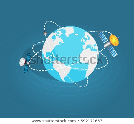 Satellites surrounding the planet Stock photo © bluering
