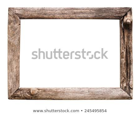 古い 木製 素朴な 画像フレーム 孤立した 白 ストックフォト © plasticrobot
