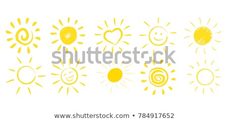 Zon geschilderd olie pastel krijtjes Stockfoto © pakete