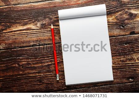 Drewniany stół słowo biuro szkoły szkła Zdjęcia stock © fuzzbones0