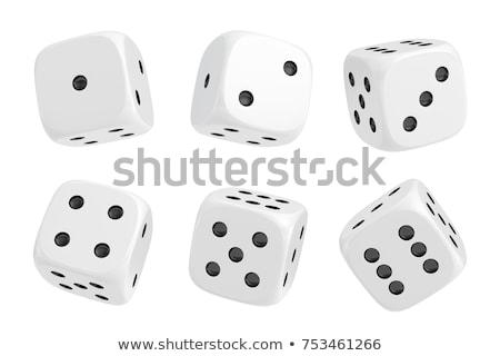 Witte dobbelstenen zwarte alleen tool tekening Stockfoto © bluering