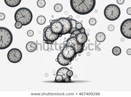 время вопросе бизнеса графика вопросы символ Сток-фото © Lightsource
