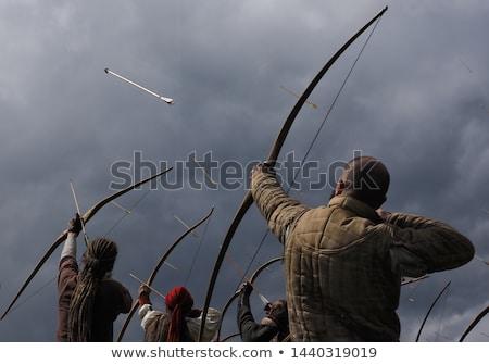 Medievale arciere target arco arrow mano Foto d'archivio © smuki