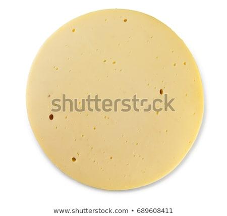szeletel · sajt · kör · néhány · alkatrészek · izolált - stock fotó © AlonPerf