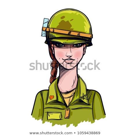 gilrl soldier stock photo © seenad