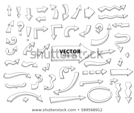 hand drawn arrow icons set with question and exclamation marks stock photo © pakete
