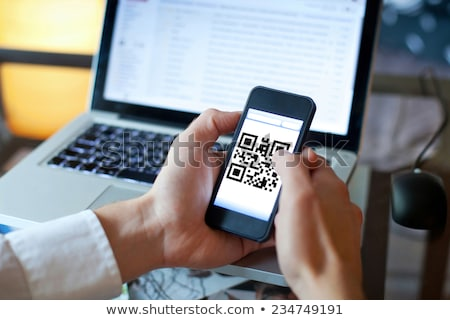 QR · Code · Lesung · Smartphone · Internet · Technologie · Web - stock foto © idesign